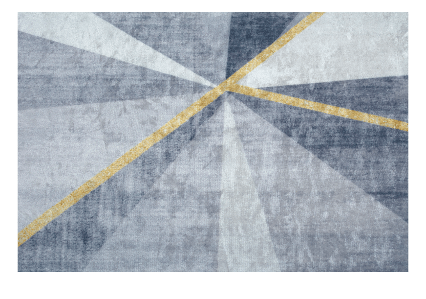 "61x93"" Grey and Golden Yellow Rug product photo other04 L"