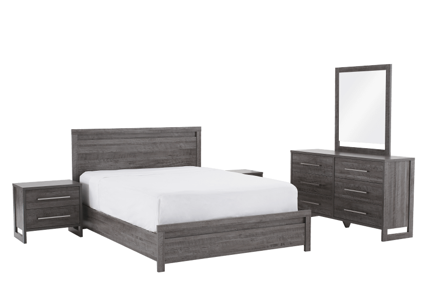 Grey Bedroom Set - Double product photo Front View L