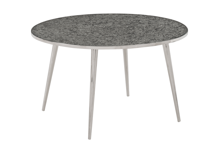 Silver Grey Metal and Tempered Glass Coffee Table product photo other01 L