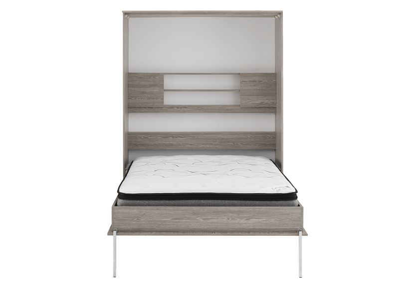 Grey Wall Murphy Bed with Storage  - Twin Bed product photo other01 L