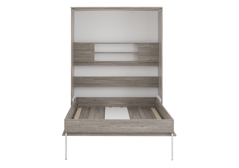 Grey Wall Murphy Bed with Storage  - Twin Bed product photo other02 L