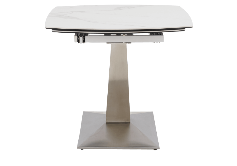 White and Grey Ceramic and Metal Table with Integrated Extension product photo other03 L