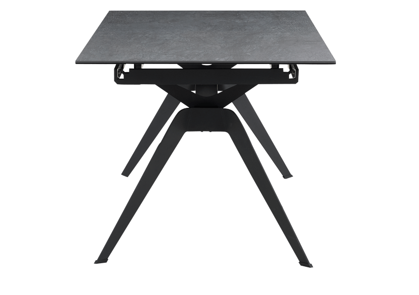 Black Metal and Ceramic Table with Central Leaf product photo other03 L