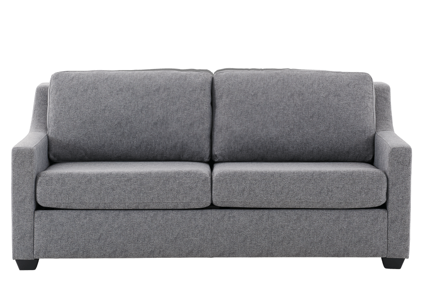 Grey Upholstered Sofa-Bed - Double Bed product photo Front View L