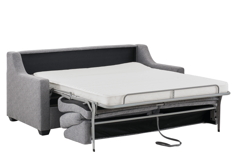 Grey Upholstered Sofa-Bed - Double Bed product photo other02 L