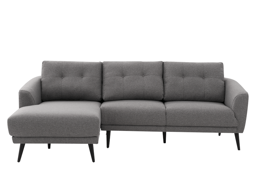 Grey Upholstered Sectional Sofa product photo Front View L