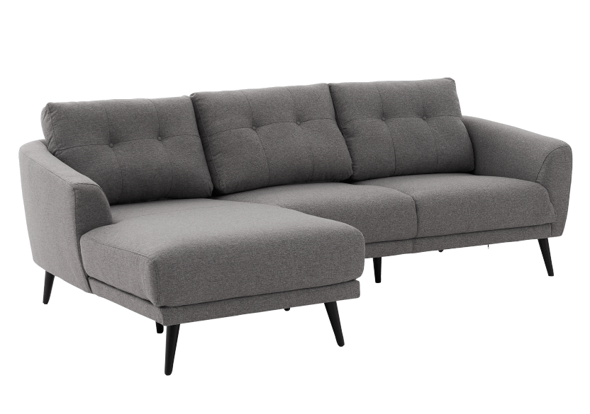 Grey Upholstered Sectional Sofa product photo other01 L