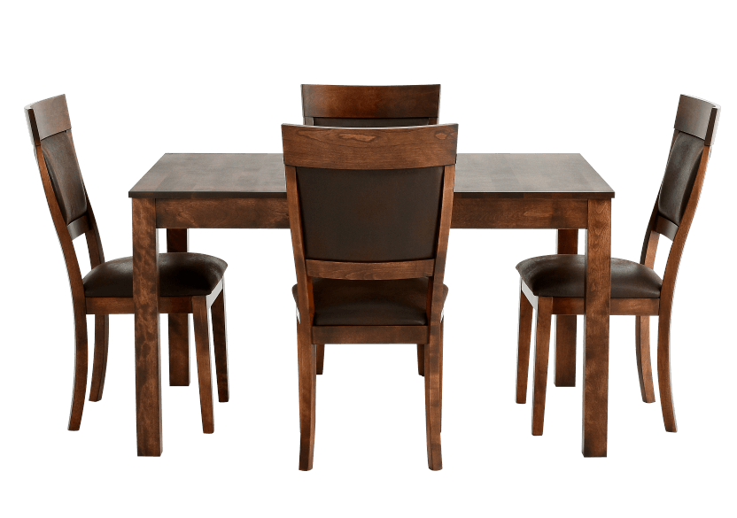 Brown Birch Kitchen Room Furniture product photo Front View L