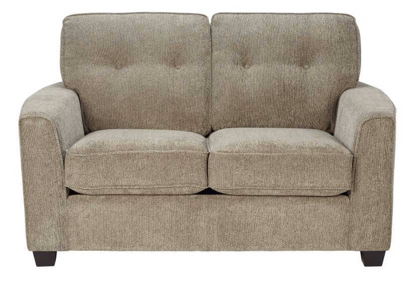 Beige Upholstered Loveseat product photo