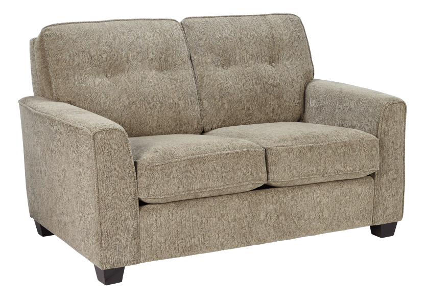Beige Upholstered Loveseat product photo other01 L