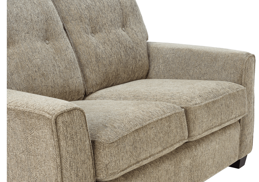 Beige Upholstered Loveseat product photo other03 L