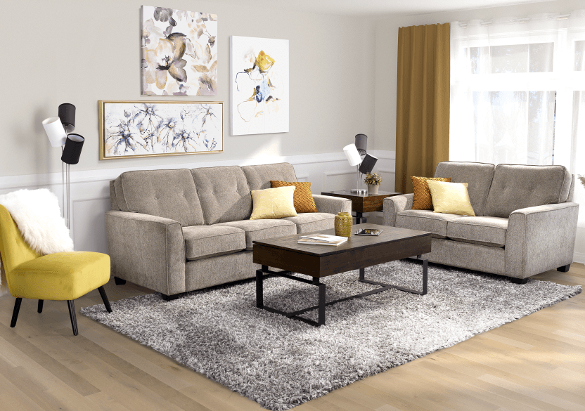 Beige Upholstered Loveseat product photo other07 L