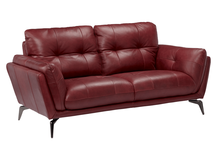 Red Leather Loveseat product photo other01 L