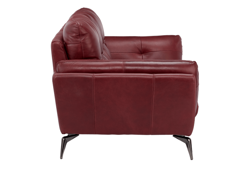 Red Leather Loveseat product photo other02 L