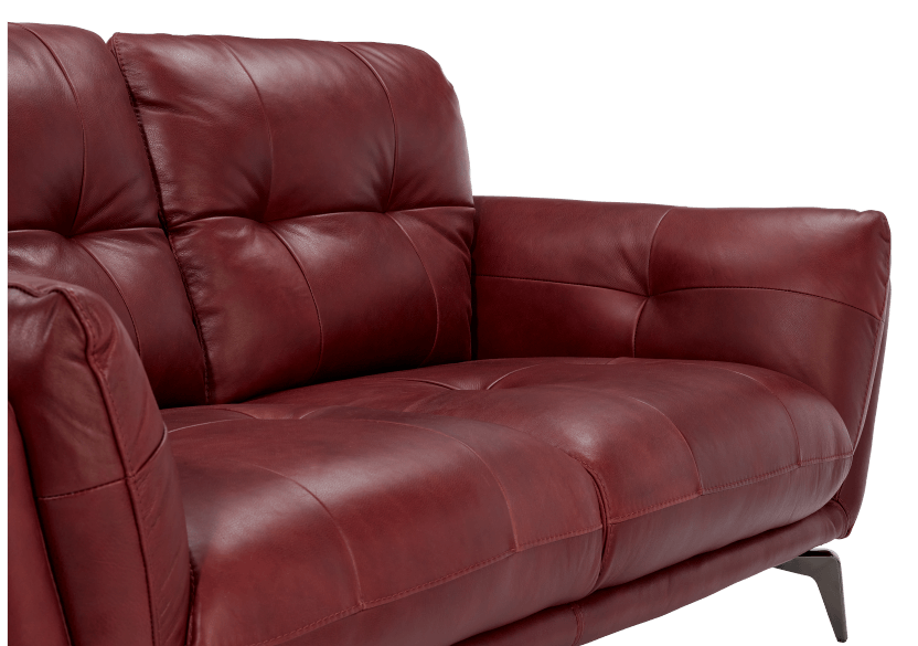 Red Leather Loveseat product photo other03 L