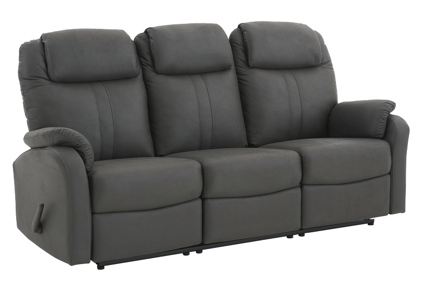 Dark Grey Reclining Upholstered Sofa product photo other01 L