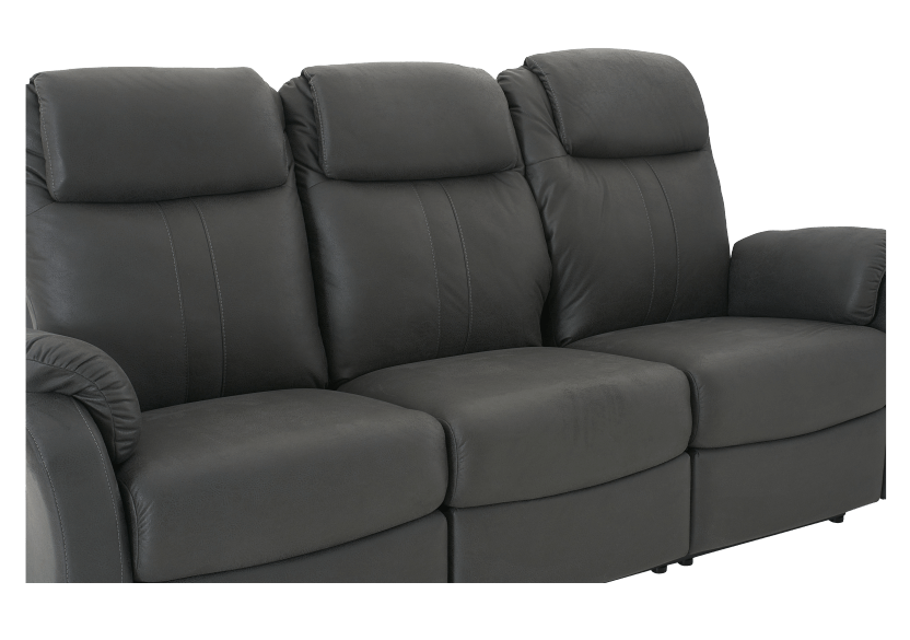 Dark Grey Reclining Upholstered Sofa product photo other06 L