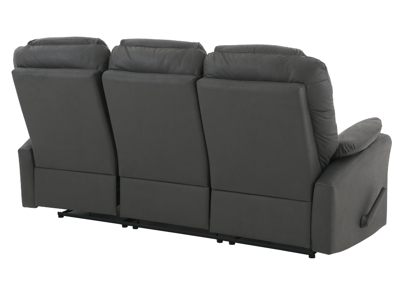Dark Grey Reclining Upholstered Sofa product photo other08 L