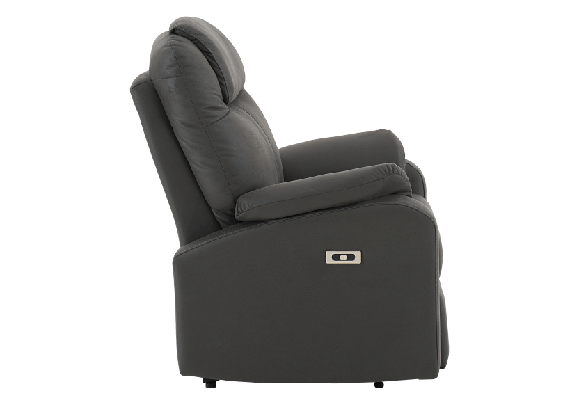 Dark Grey Reclining, Rocking and Battery Motorized Upholstered Armchair product photo other02 L