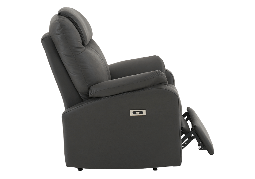 Dark Grey Reclining, Rocking and Battery Motorized Upholstered Armchair product photo other03 L