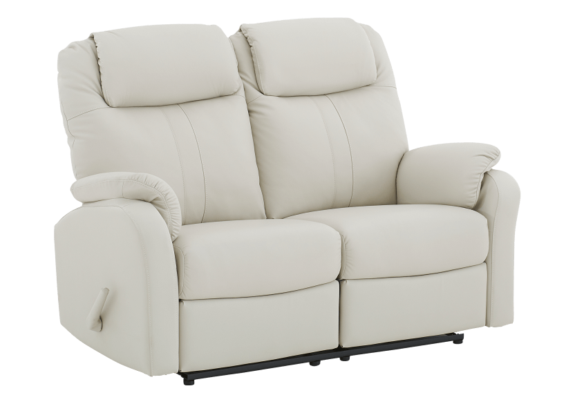 Ivory Reclining Loveseat with Genuine Leather Seats product photo other01 L