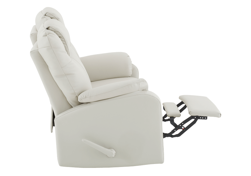Ivory Reclining Loveseat with Genuine Leather Seats product photo other04 L