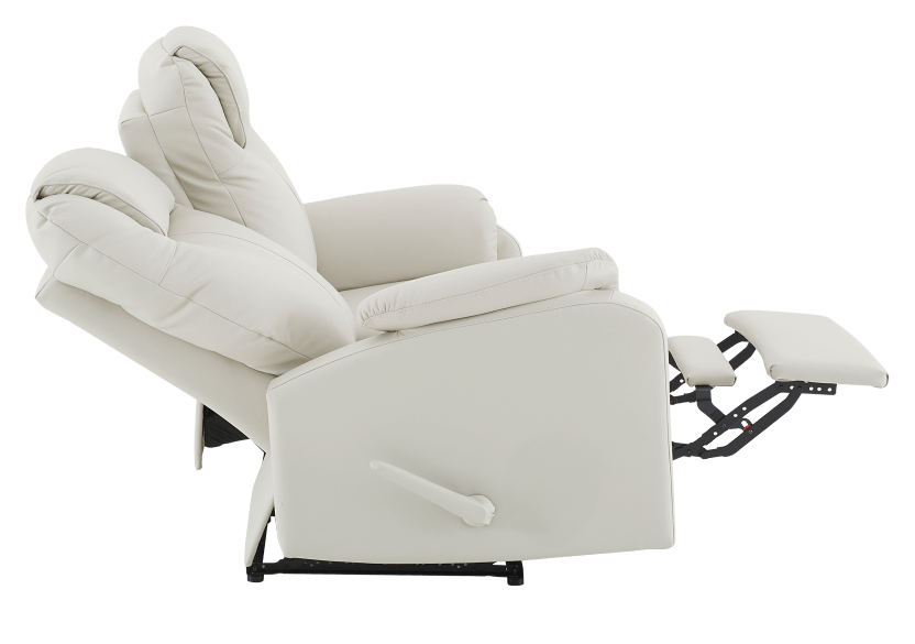 Ivory Reclining Loveseat with Genuine Leather Seats product photo other05 L