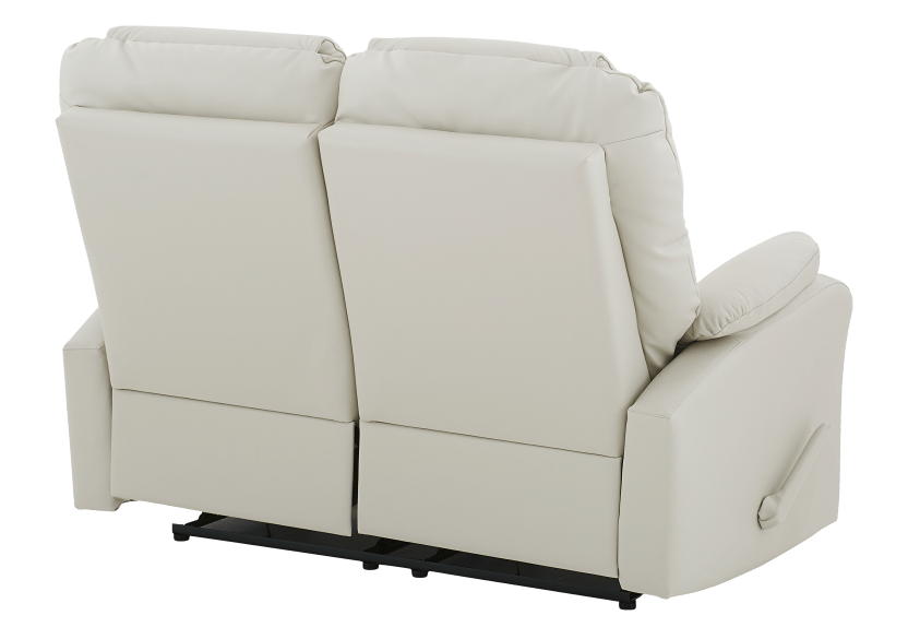 Ivory Reclining Loveseat with Genuine Leather Seats product photo other08 L