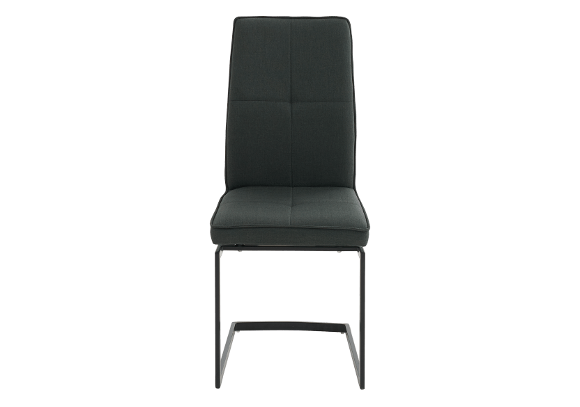 Dark Grey Upholstered Chair product photo Front View L