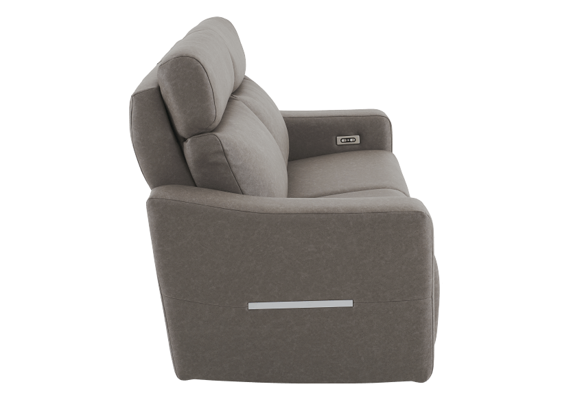 Brown-Grey Reclining and Battery Motorized Upholstered Sofa with Adjustable Headrests - ELRAN product photo other02 L