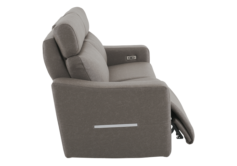 Brown-Grey Reclining and Battery Motorized Upholstered Sofa with Adjustable Headrests - ELRAN product photo other03 L