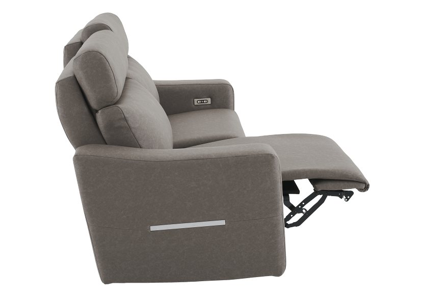 Brown-Grey Reclining and Battery Motorized Upholstered Sofa with Adjustable Headrests - ELRAN product photo other04 L
