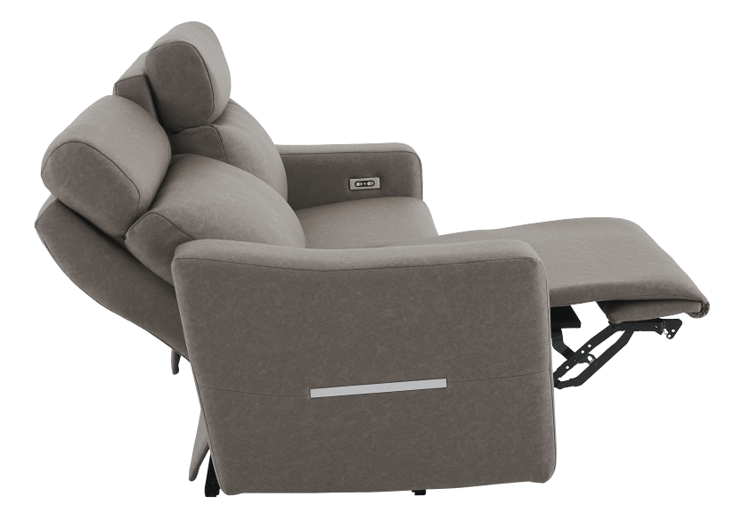 Brown-Grey Reclining and Battery Motorized Upholstered Sofa with Adjustable Headrests - ELRAN product photo other05 L