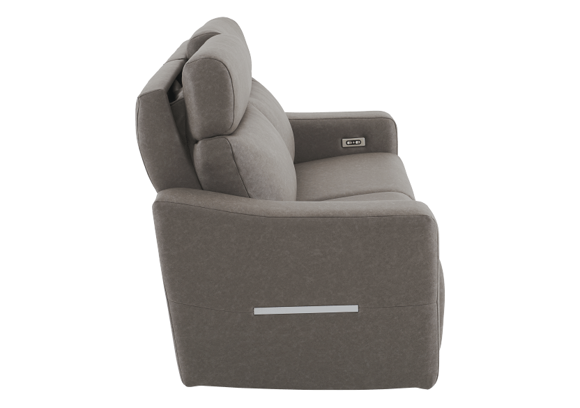 Brown-Grey Reclining and Battery Motorized Upholstered Sofa with Adjustable Headrests - ELRAN product photo other10 L