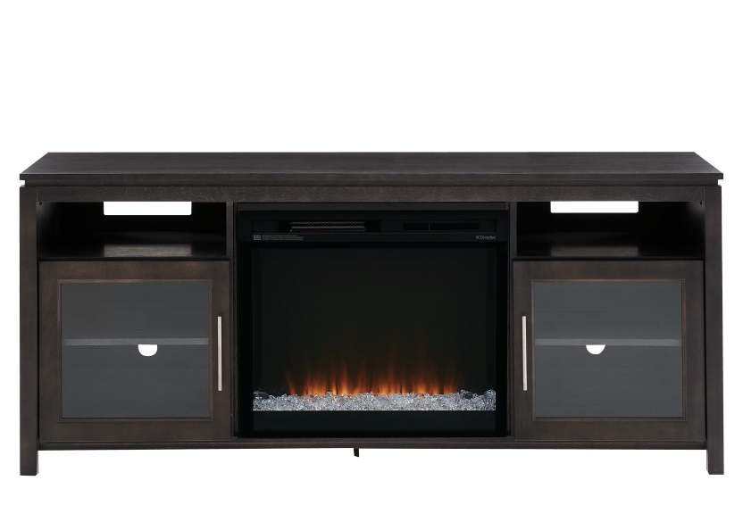 Dark Grey Birch Wood Electric Fireplace - Dimplex product photo Front View L