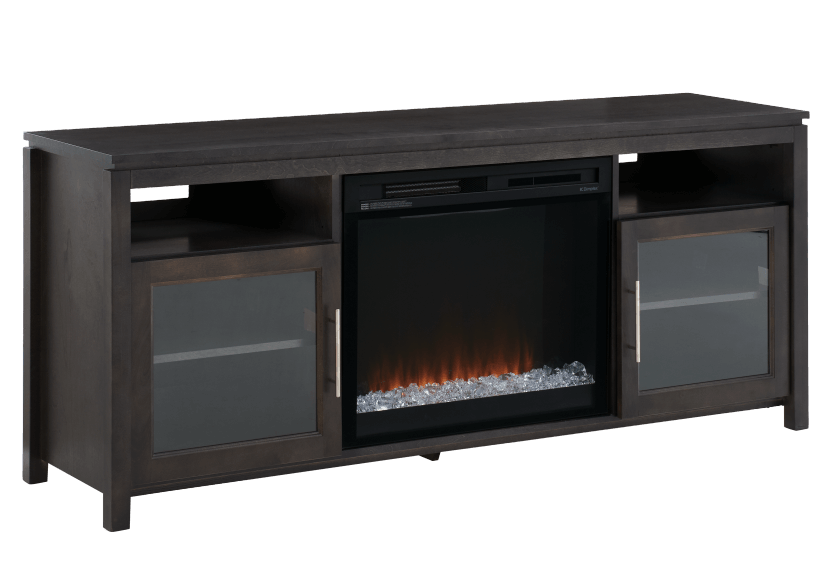 Dark Grey Birch Wood Electric Fireplace - Dimplex product photo other02 L