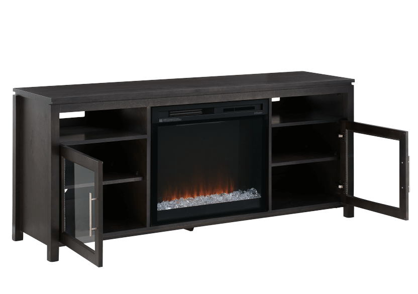 Dark Grey Birch Wood Electric Fireplace - Dimplex product photo other03 L