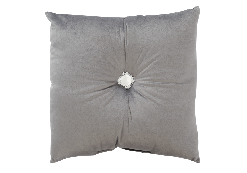 "18x18"" Grey Decorative Pillow product photo Front View L"