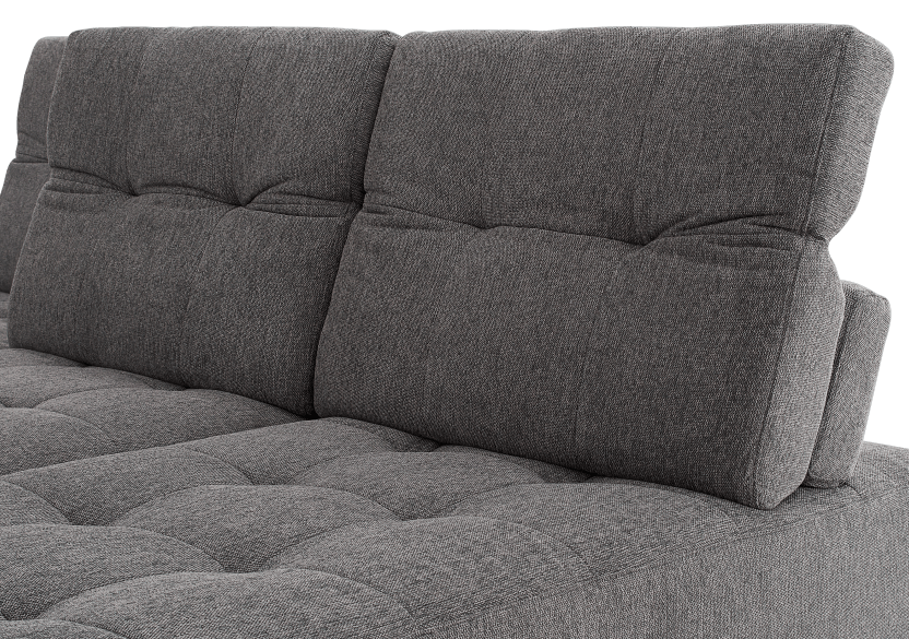 Grey Upholstered Modular Sectional Sofa with Adjustable Backrests and Headrests product photo other08 L