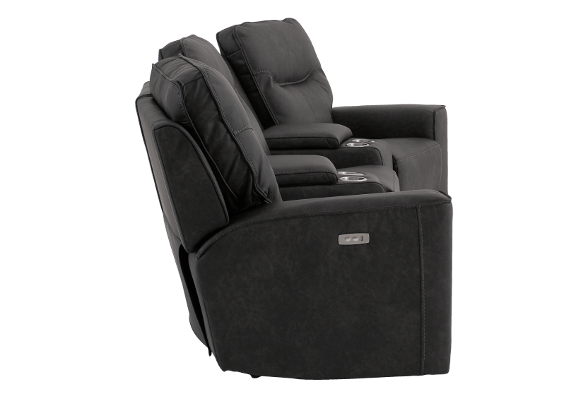 Dark Grey Home Theater Reclining and Motorized Upholstered Sofa product photo other02 L