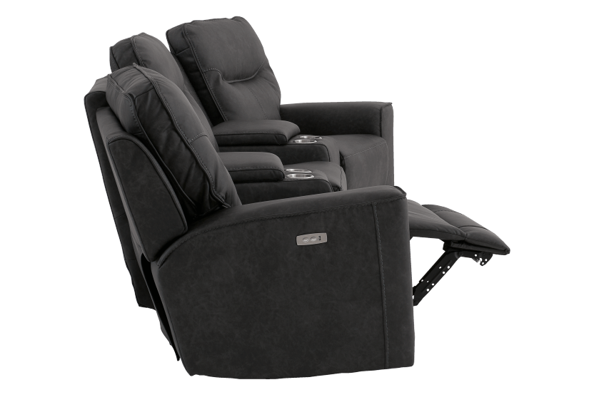 Dark Grey Home Theater Reclining and Motorized Upholstered Sofa product photo other04 L