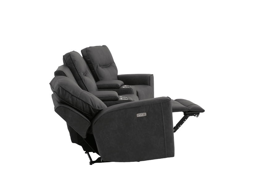 Dark Grey Home Theater Reclining and Motorized Upholstered Sofa product photo other05 L