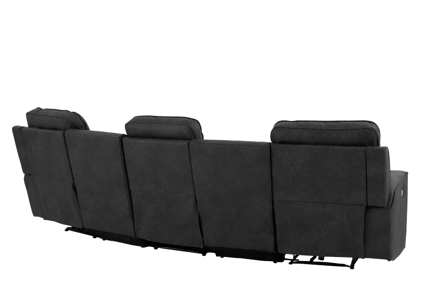 Dark Grey Home Theater Reclining and Motorized Upholstered Sofa product photo other08 L