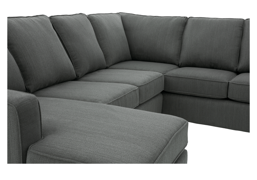 Grey Upholstered Sectional Sofa product photo other03 L