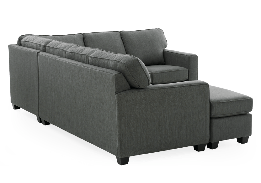 Grey Upholstered Sectional Sofa product photo other05 L