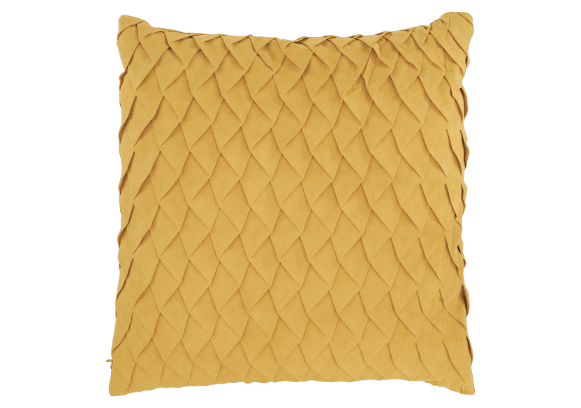 "17x17"" Yellow Decorative Pillow product photo Front View L"