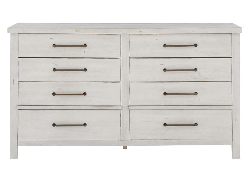 White 8-Drawer Dresser product photo