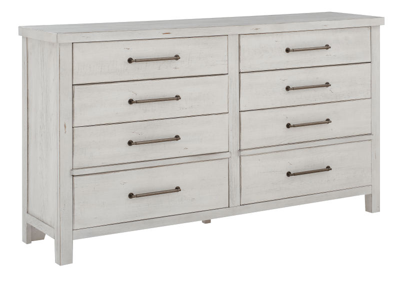 White 8-Drawer Dresser product photo other01 L