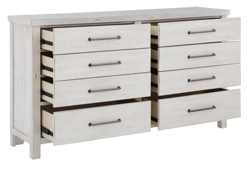 White 8-Drawer Dresser product photo other02 L