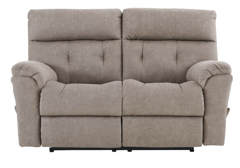 Brown-Grey Reclining Upholstered Loveseat - ELRAN product photo Front View L